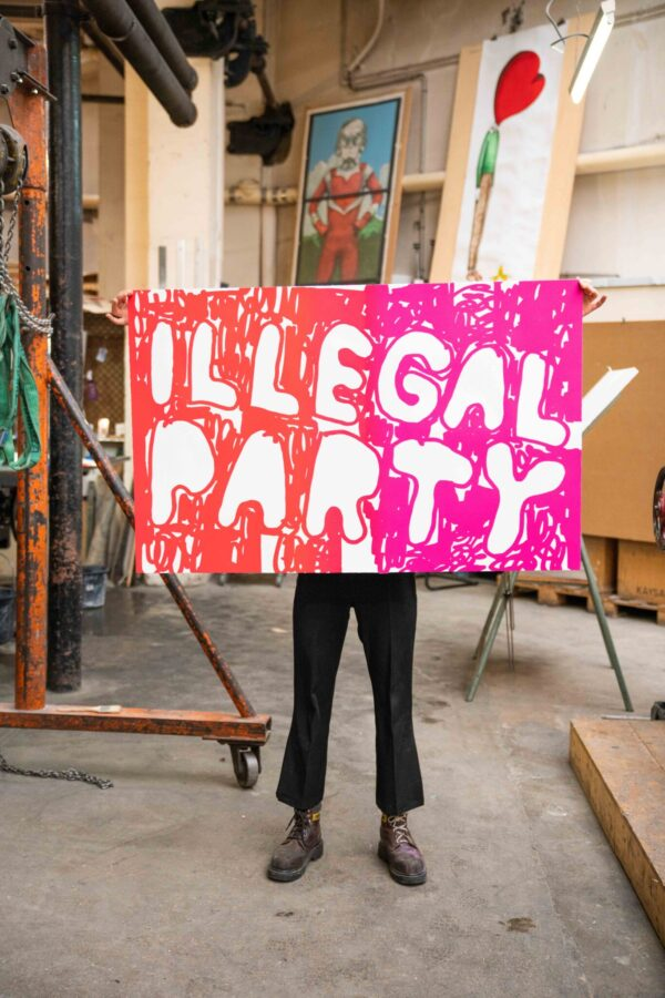 illegal-party-red-pink-stefan-marx-lithograph-printing-house-paris