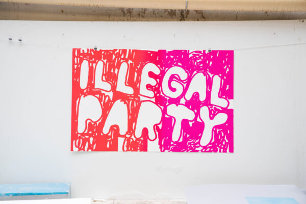 illegal-party-red-pink-stefan-marx-lithograph-printing-house-paris-art