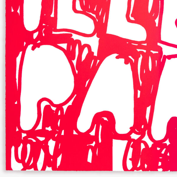 illegal-party-red-pink-stefan-marx-numbered-lithograph