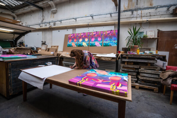 dont-call-me-orange-daisy-artist-signature-process-amelie-bertrand-lithograph